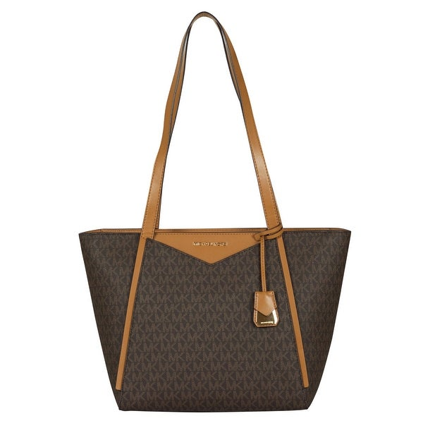 99ebdd011fc9 Shop Michael Kors Small Whitney Top Zip Tote Handbag in Brown/ Acorn - Free  Shipping Today - Overstock - 25737087
