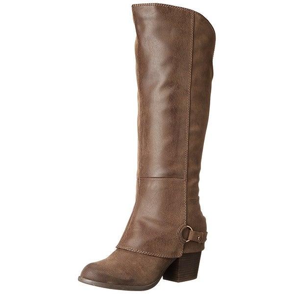 Fergalicious Womens Lexy Fabric Almond Toe Knee High Fashion Boots
