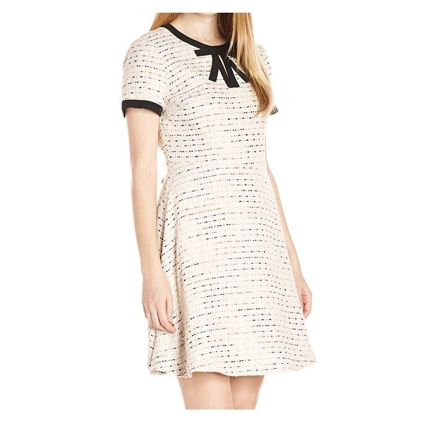 Shop Cece By Cynthia Steffe New Ivory Womens Size 12 Tweed Sheath