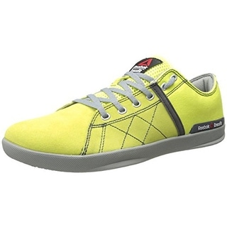 Reebok Womens Faux Suede Lace Up Running, Cross Training Shoes