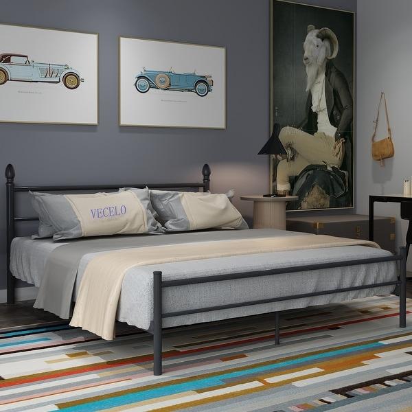 VECELO QueenFullTwinsize Platform Bed FrameBox Spring