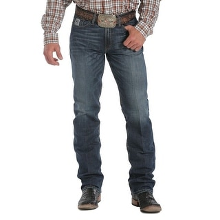 Cinch Western Denim Jeans Mens Silver Label Slim Dk