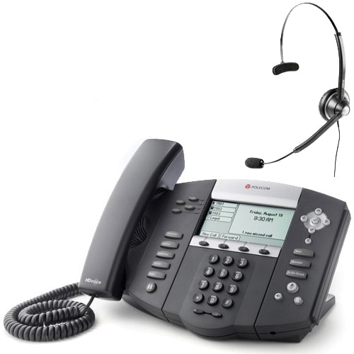 Polycom 2200-12550-025 w/ Headset Option SoundPoint IP 550 POE