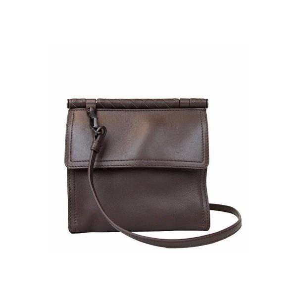 Bottega Veneta Mini Leather Messenger Shoulder Bag 323966 2540 Brown
