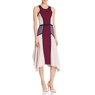 Parker Womens Bodycon Dress Colorblock Fit & Flare - m