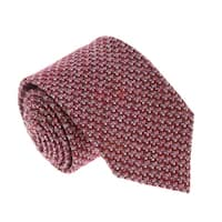 Missoni U5089 Pink/Red Basketweave 100% Silk Tie - 60-3