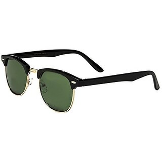 Mechaly Unisex Black Clubmaster Square Style Sunglasses