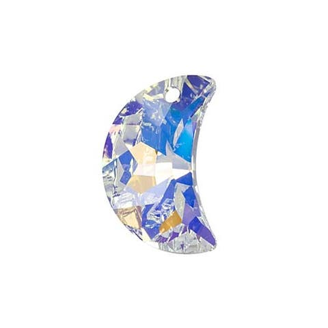 Swarovski Crystal, 6722 Moon Pendant 20mm, 1 Piece, Crystal AB Foiled