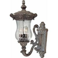 """Volume Lighting V8540 Melrose 3 Light 21"""" Height Outdoor Wall Sconce with Clear"""