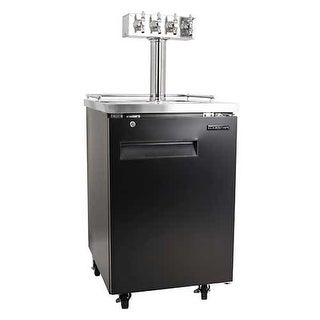 EdgeStar ECK244T 24 Inch Wide Quadruple Tap Kegerator with Built-In Drip Tray