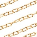 Matte 22K Gold Plated Krinkle Chain 2mm Bulk By The Foot - Thumbnail 0