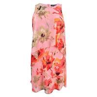Lauren by Ralph Lauren Women's Floral-Print Dress - Coral Multi