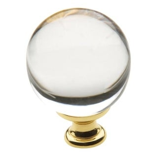 baldwin crystal 138 inch diameter round cabinet knob from the estate