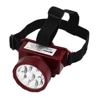 Unique Bargains AC 110V-220V US Plug Plastic 9 White LEDs Head Torch Headlamp Red