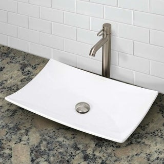 "DecoLav 1443 Classically Redefined 23-5/8"" Rectangular Vitreous China Vessel Bathroom Sink"