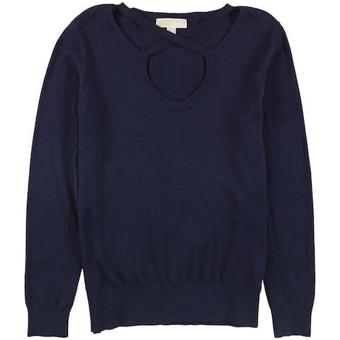 Michael Kors Womens Crisscross Pullover Sweater truenavy L