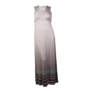 Studio M Women's Horizontal Stripe Casual Dress (XL, Steel) - Steel - xL