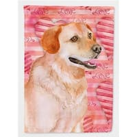 Carolines Treasures  Labrador Retriever Love Flag - Garden Size