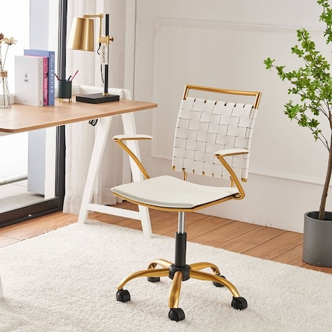LUXMOD® Gold Office Chair,Adjustable Swivel Chair,Ergonomic Desk Chair