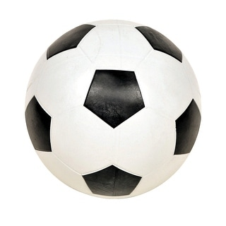 School Smart No 4 Soccer Ball, Black/White