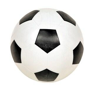 School Smart No 4 Soccer Ball, Black/White