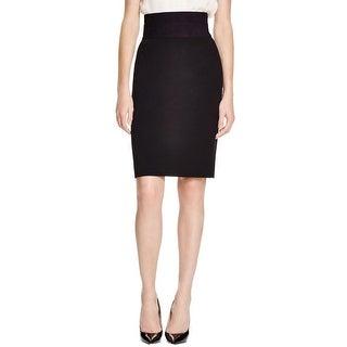 Diane Von Furstenberg Womens Pencil Skirt Banded Above Knee