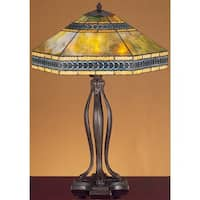 Meyda Tiffany 31227 Stained Glass / Tiffany Table Lamp from the Cambridge Collection - tiffany glass