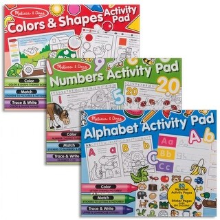 Colors & Shapes, Alphabet, and Numbers Activity Pad Bundle