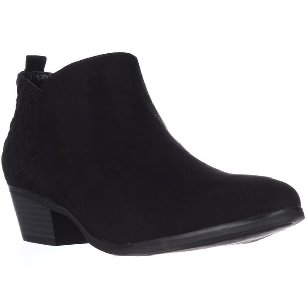 SC35 Wessley Semi-Quilted Short Booties, Black