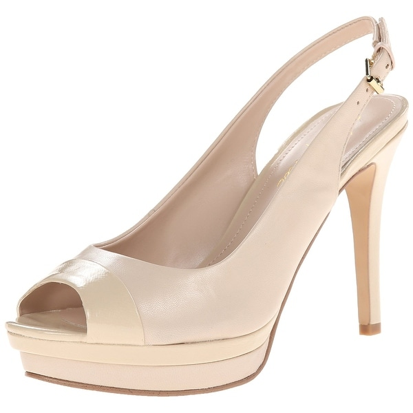 Marc Fisher Womens Melissa Leather Peep Toe SlingBack Platform Pumps