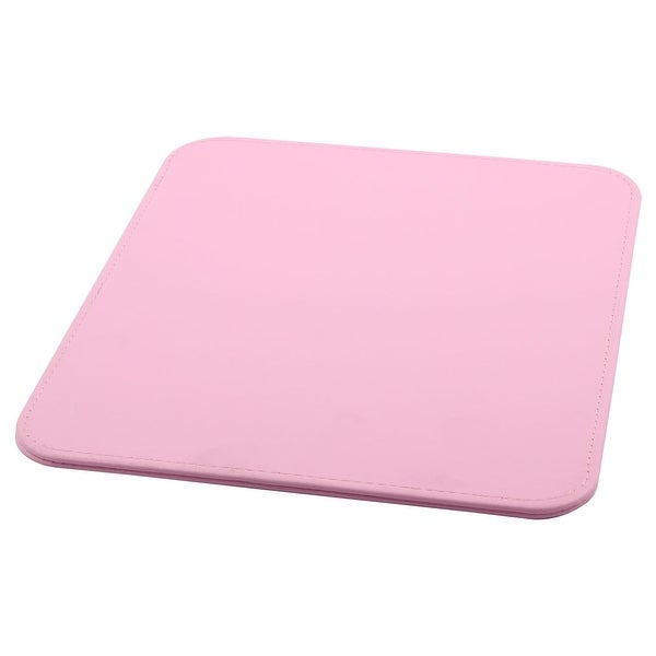 Computer PC PU Leather Water Resistance Hard Mice Mat Test Gaming Mouse Pad Pink