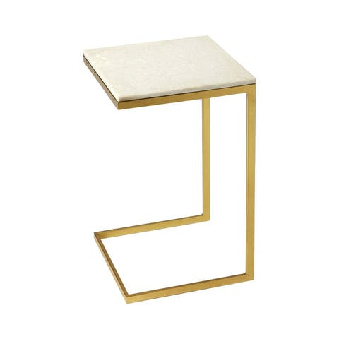 Offex Lawler Modern Loft Square End Table - Gold