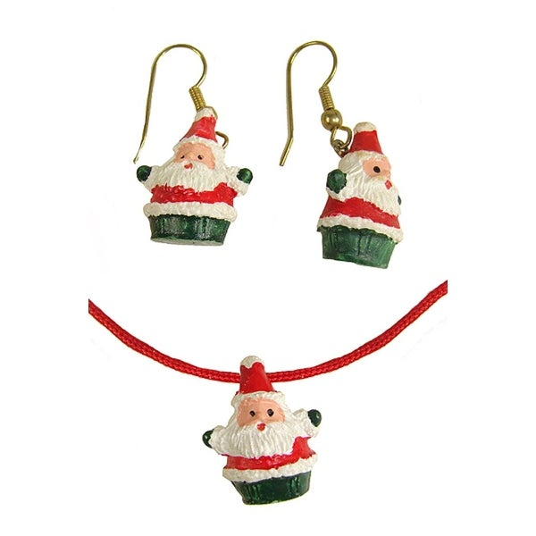 Club Pack of 288 Jolly Santa Claus Christmas Necklace And Earring Sets