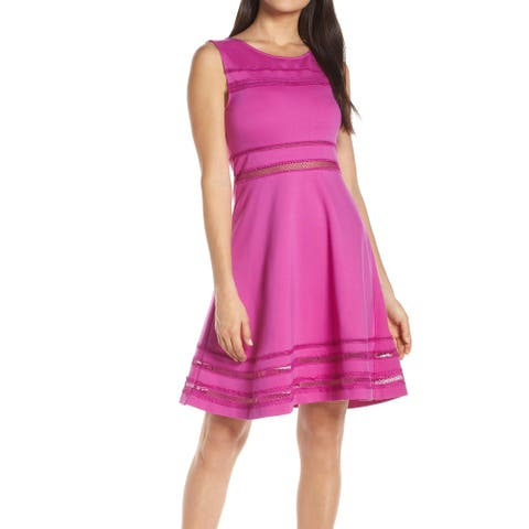 French Connection Womens Dress Passion Purple Size 4 A-Line Fit & Flare