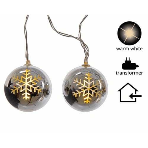 LED Silver Snowflake Ball