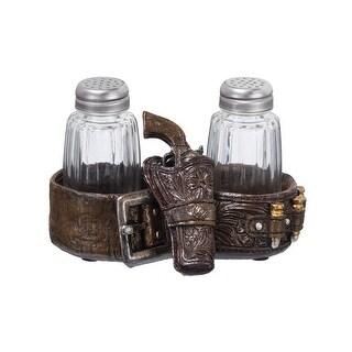 """Gift Corral Salt and Pepper Set Gun Belt 3 """" x 5 """" x 3 """""""