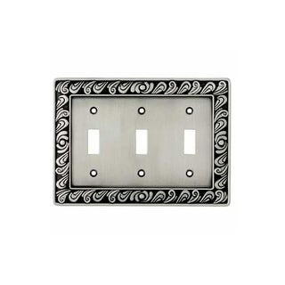 Franklin Brass 64054 Paisley Series Triple Wall Plate - brushed satin pewter
