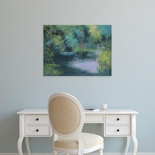 Easy Art Prints Mary Jean Weber's 'Monet's Garden VIII' Premium Canvas Art