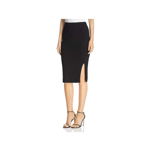 Three Dots Womens Pencil Skirt Luxe Slit - M