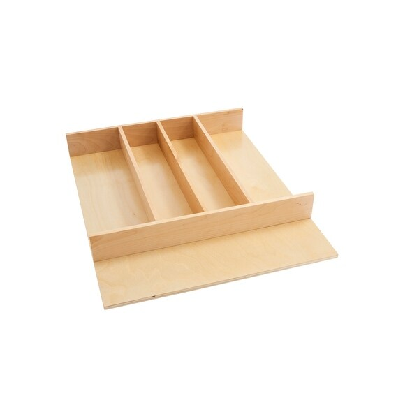 """18.5 in Tall Wood Utility Tray Insert - 18.5""""W x 22""""D x 2.88""""H. Opens flyout."""