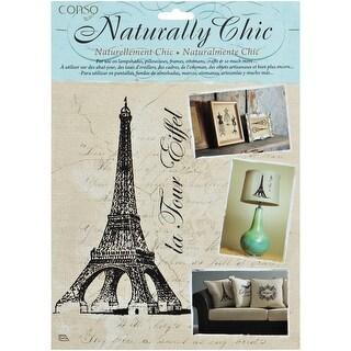 Wrights Naturally Chic Iron-On Transfers-La Tour Eiffel