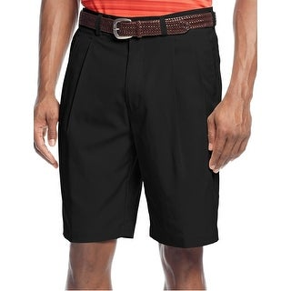 PGA Tour Double Pleated Caviar Black Golf Shorts 38 Core Tech
