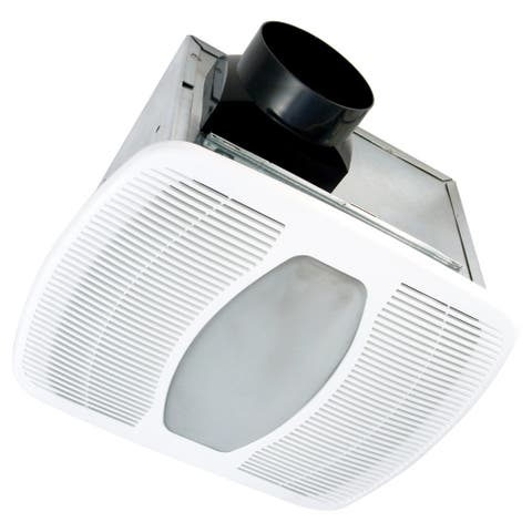 Air King LEDAK100D 100 CFM 2.0 Sones Ceiling Mounted LED Lit Exhaust Fan with Dual Speed Setting - White