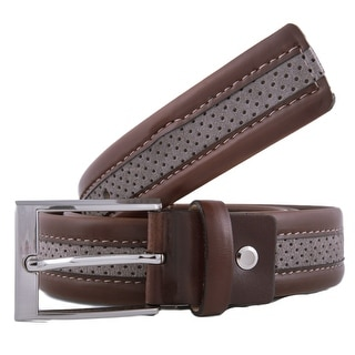 Romeo Gigli Y372/35 TOBACCO Tan/Taupe Leather/Suede Adjustable Belt