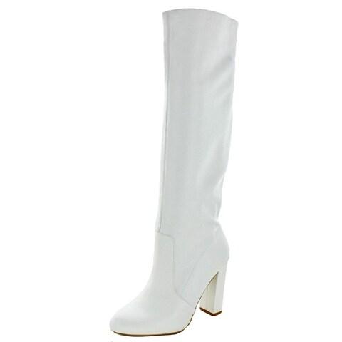 Steve Madden Womens Eton Knee-High Boots Solid Almond Toe