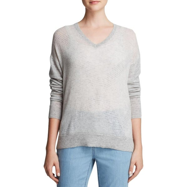 Vince Womens Pullover Sweater Cashmere Colorblock
