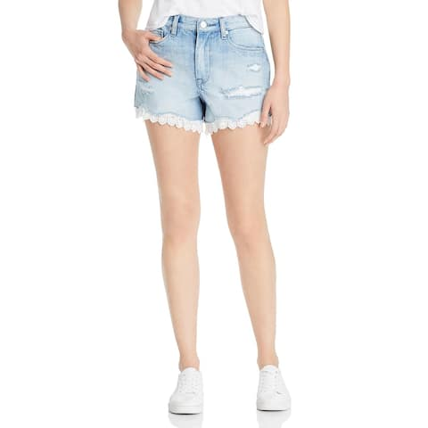[BLANKNYC] Womens Denim Shorts High Rise Distressed - No Thrills