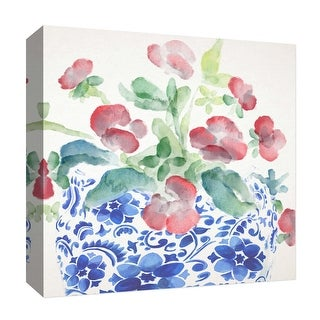 """PTM Images 9-126902  PTM Canvas Collection 12"""" x 12"""" - """"Vintage Flower II"""" Giclee Flowers Art Print on Canvas"""
