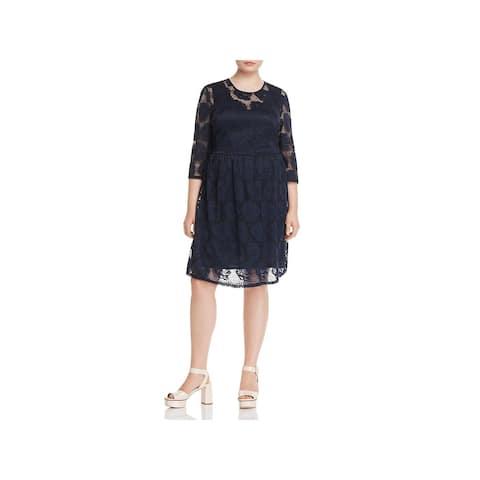 Junarose Womens Plus Cocktail Dress Lace Party