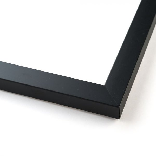 17x38 Black Wood Picture Frame - With Acrylic Front and Foam Board Backing - Matte Black (solid wood)